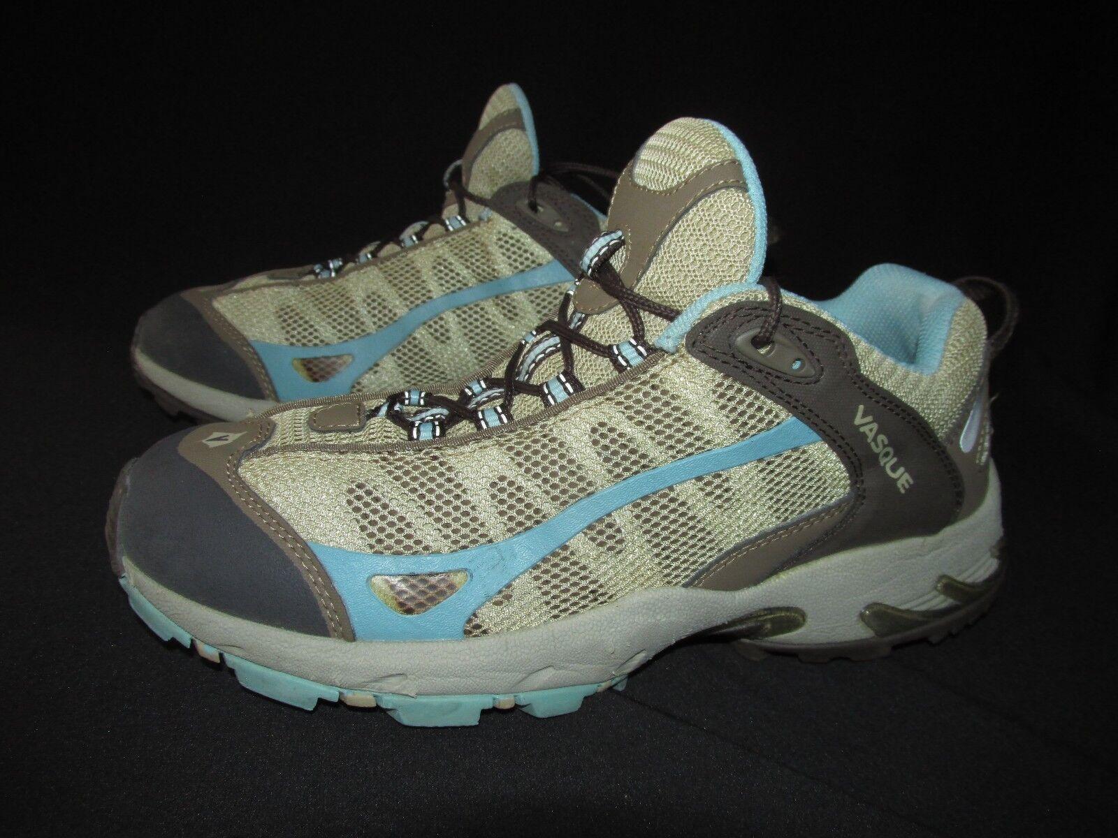 Vasque Tan Brown bleu Low Synthetic Mesh Hiking Trail  Chaussures femmes  9.5M