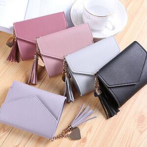 Mini-Women-039-s-Leather-Tassel-Wallet-Clutch-Coin-Purse-Card-Holder-Small-Handbag
