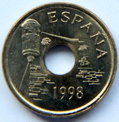 SPAIN JUAN CARLOS I 25 PESETAS 1994 KM-933 CANARIAS MINT ROLL