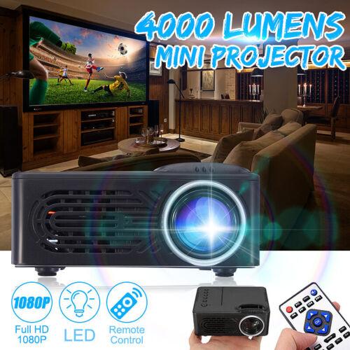 7000 Lumens 3D Full HD 1080P Mini Projector LED Multimedia Home Theater USB