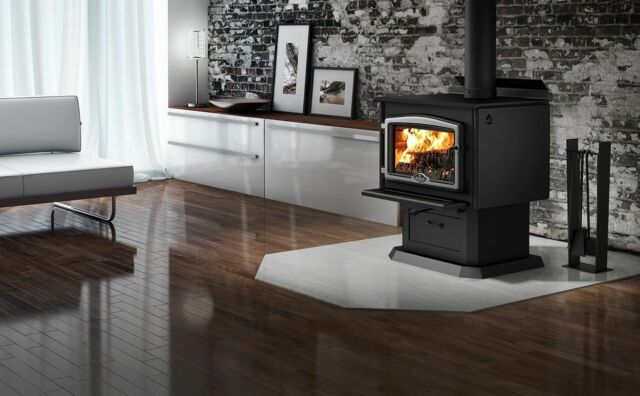 Osburn 2000 Wood Stove Fireplace With Blower Standing Cast Iron Epa Large For Sale Online Ebay