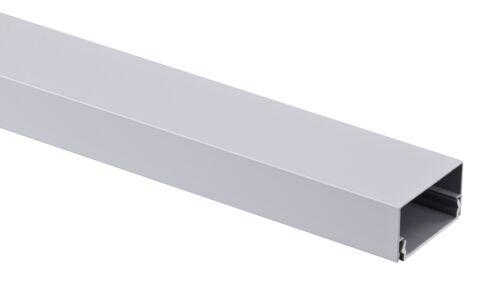 Alu Kabelkanal silber eckig 115x5 cm für TV HiFi Computer Lampen Aluminium Abdec