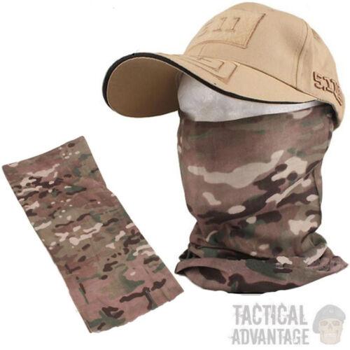 Multicam Camouflage Snood écharpe Bandana Face Head Wrap cou Tube Cagoule Armée