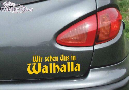 Wikinger Autoaufkleber ●︎ Wir sehen uns in Walhalla ● Odin Tuning Viking Sticker