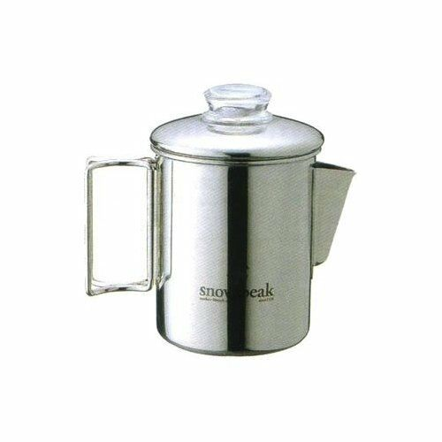 Snow Peak Stainless Coffee Percolator 6 Cups Cookware PR-006
