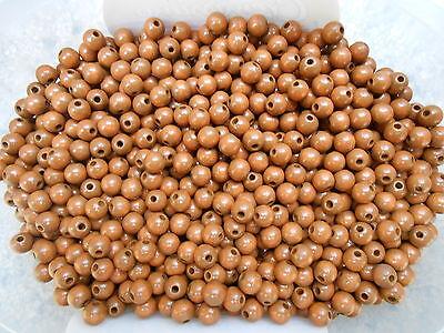 150stk Holzperlen Natur RUND 8mm 10mm 12mm farblos für Schmuck Basteln Perlenset