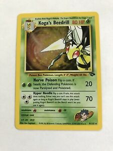 Koga-s-Beedrill-Gym-Challenge-9-132-HOLO-LP-Pokemon-Card-Free-Shipping-A2