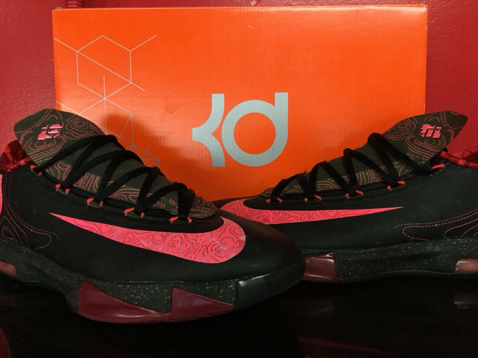 NIKE NIKE NIKE KD VI HOT PUNCH EDITION SZ 10 RARE b97234