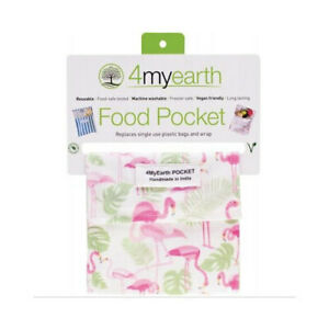 Snack-Bag-4myearth-Food-Pocket-Storage-Reusable-Pouch-Snack-Fruit-Flamingoes