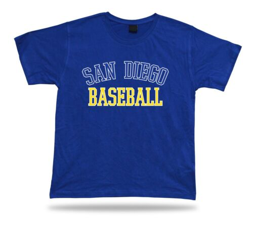 San Diego BASEBALL t-shirt tee blue white yellow gold USA summer apparel field