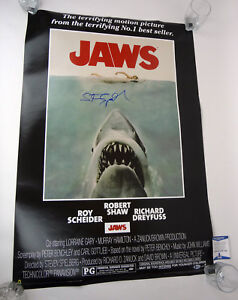 Steven-Spielberg-Signed-Autograph-Jaws-Full-Size-Movie-Poster-Beckett-BAS-COA