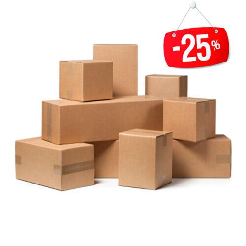 20 pezzi SCATOLA DI CARTONE imballaggio spedizioni 22x22x22cm  scatolone avana