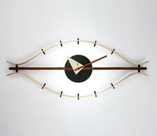 mcm mid century danish modern nelson style steering eye clock ball star wall