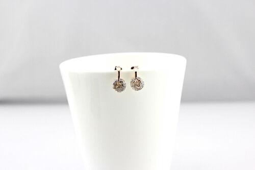 Jolies Boucles d/'Oreilles en Alliage et Zirconium couleur Cristal Blanc