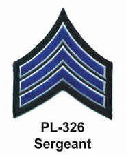 """SERGEANT EMBROIDERED PATCHES 4"""""""