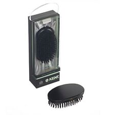 Kent MN11 Mens Ebony Wood Pure Bristle Oval Military Brush - For all Hair Types