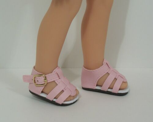 """Debs LT PINK Strappy Sandals Doll Shoes For 13/"""" Paola Reina Doll"""