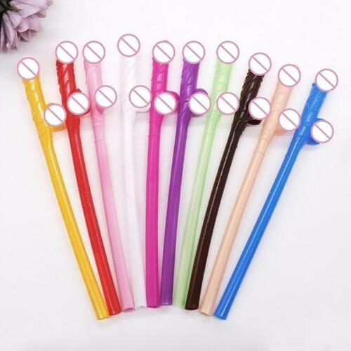 10 Piece Pack of Penis Drinking Straws