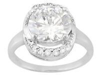 Jtv Bella Luce 4.20ctw Round Rhodium Plated 925 Sterling Silver Ring Sz 8