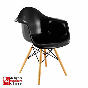 Replica-Charles-Eames-DAW-Armchair-with-Beech-Wood-Legs-Black-ABS-Plastic