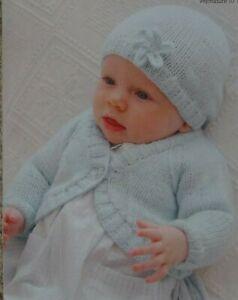 Prem - 12mths Baby Boleros  Double knitting pattern. -UKHKA\114