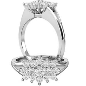 0.55 Ct Round Cut Moissanite Engagement Superb Rings 18K Real White Gold Size 8