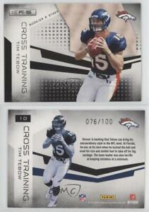 Details About 2010 Panini Rookies Stars Cross Training Black100 10 Tim Tebow Rookie Card