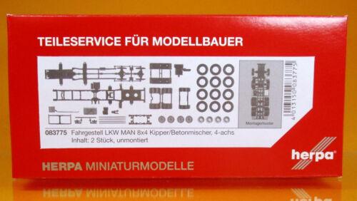 Herpa 083775 Fahrgestell MAN 8x4 Baufahrzeuge LKW 2 Stück Scale 1 87 NEU OVP