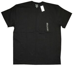 NEW-DEEP-SOLID-BLACK-BANANA-REPUBLIC-BASIC-CREW-NECK-T-SHIRT-XXL