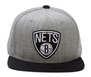 Mitchell-amp-Ness-Brooklyn-Nets-Heather-Micro-Fiber-Snapback-Grey-Black