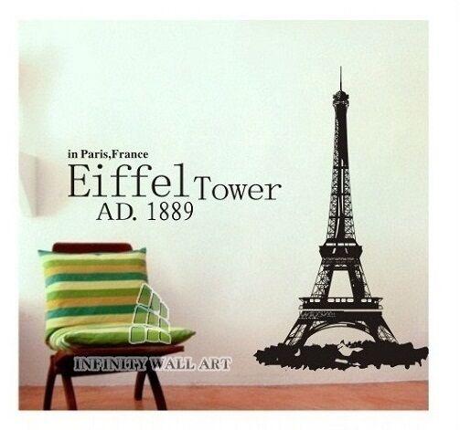 Eiffel Tower Wall Art Sticker, Paris Wall Sticker Decals - PD22