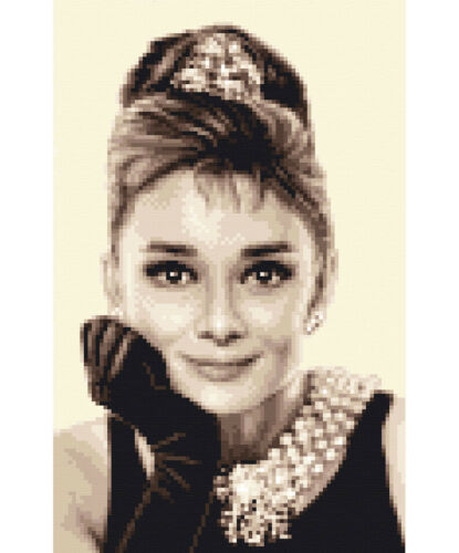 AUDREY HEPBURN Full counted cross stitch kit ~ with all materials you need