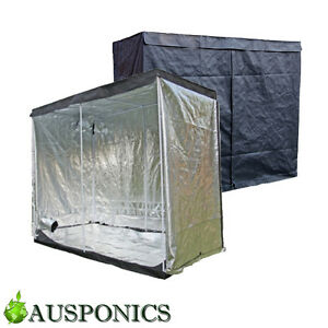 Image is loading 2x-MYLAR-GROW-TENT-2-4-x-2-  sc 1 st  eBay & 2x MYLAR GROW TENT (2.4 x 2.4 x 2.0M) Indoor Grow Tent For ...