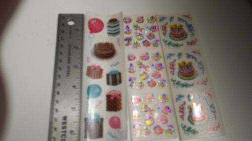 sandylion scrapbooking stickers BIRTHDAY 3 sticker set RARE chocolate cake