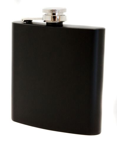 Personalised 6oz Stainless Steel Hip flask and Gift Box Laser Engraved Stag Logo
