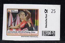 D. Briefmarke Individuell  Leichtathletik WM  Speerwurf  Molitor    **