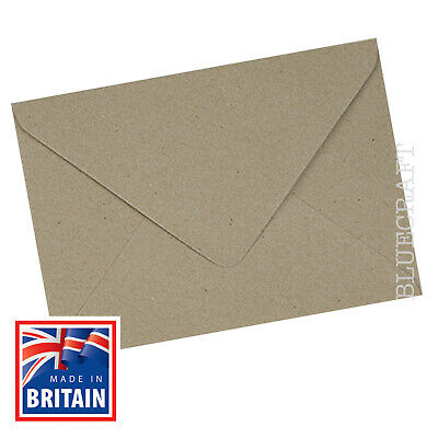 Size A6 105mm x 148mm Pack of 50 White and Cream Blank Cards with Vintage Kraft Ribbed Envelopes