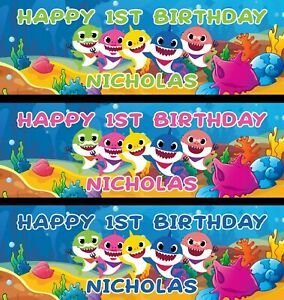 36-034-x-12-034-Personalized-Baby-Shark-Birthday-Party-Banner-Green-Blue-Pink