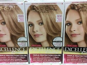 Image Is Loading 10 X L 039 Oreal Excellence Creme Hair Color