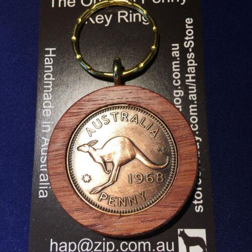 1930 Birthday Gift Anniversay Wedding Jarrah Australian Penny Keyring Key Ring