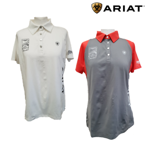 Ariat Ladies FEI World Cup Team Cambria Polo Shirt SALE FREE UK Shipping