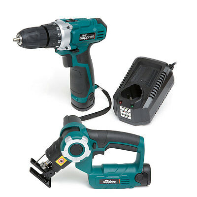 Wolf Sapphire 12v Drill Driver, Li-ion Battery, Charger & 12v 2in1 Mini Saw Body