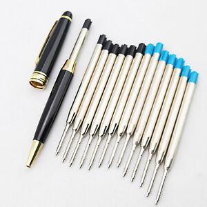 10pcs-blaue-Tinten-Standard-0-7MM-Kugelschreiber-Nachfuell-mittlere-O5N0