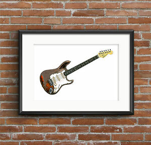 Rory-Gallagher-039-s-Fender-Stratocaster-POSTER-PRINT-A1-size