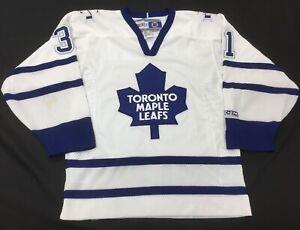Men-039-s-VTG-Joseph-Toronto-Maple-Leafs-CCM-Sewn-Hockey-Jersey-Small-S