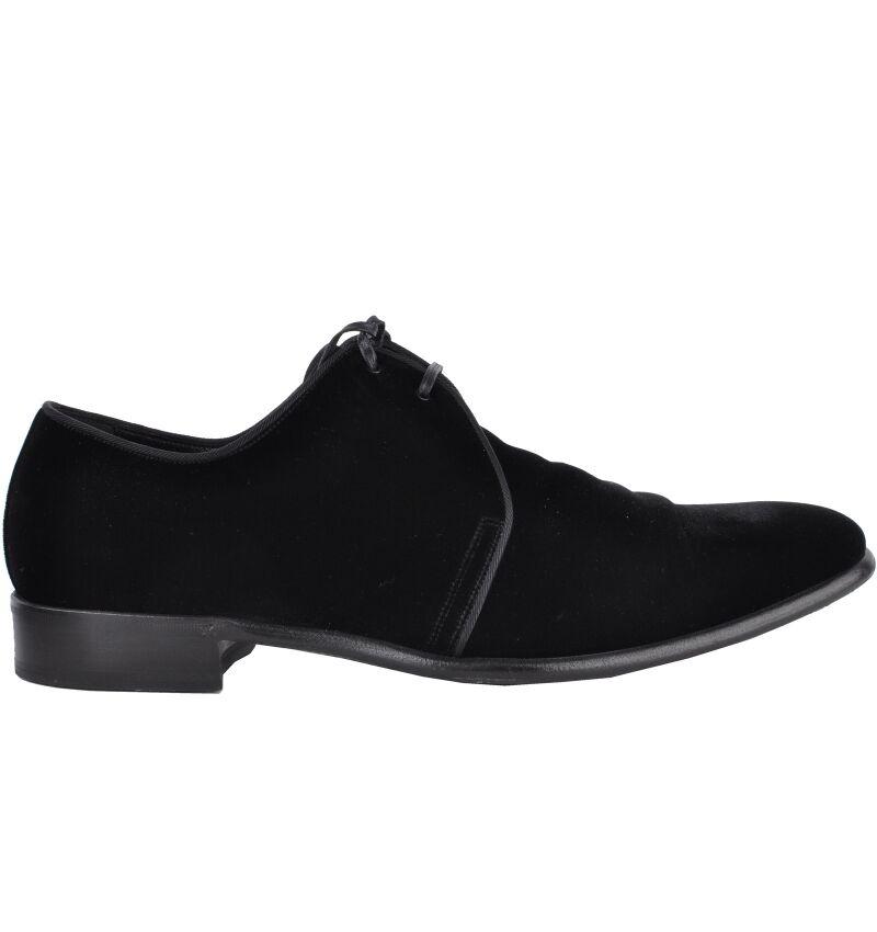 DOLCE & GABBANA Velvet RUNWAY Samt Schuhe Schwarz Velvet GABBANA Shoes Black 03248 9c2cd5