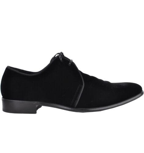 DOLCE /& GABBANA RUNWAY Samt Schuhe Schwarz Velvet Shoes Black 03248