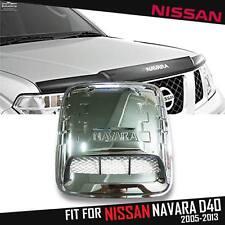 Chrome Bonnet Hood Scoop Air Vent Cover Trim Fit For Nissan Navara D40 05-14
