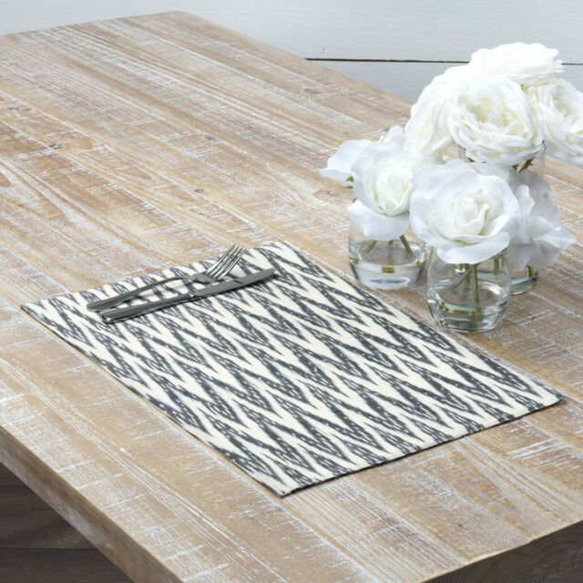 Coastal Tabletop Kitchen VHC Sandy Burlap Placemat Set of 6 Cotton Nautical