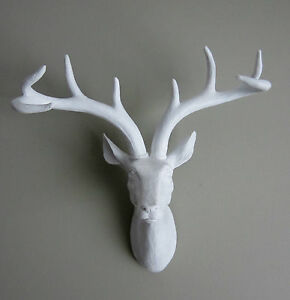 Image Is Loading Funky Amp Fashionable White Stag Deer Head Wall